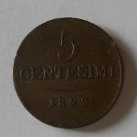 Rakousko 5 Centesimi 1822 V František II.