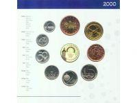Ročníková sada oběžných mincí ČR (2000 - MMF), stav bk