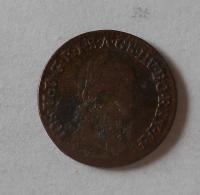 Uhry 1/4 Krejcar 1781 B Josef II.