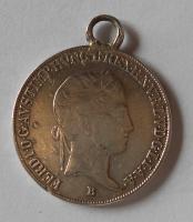 Uhry 20 Krejcar 1843 B Ferdinand V., dobové ouško
