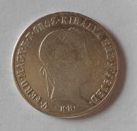 Uhry 20 Krejcar 1848 KB Ferdinand V., měl ouško