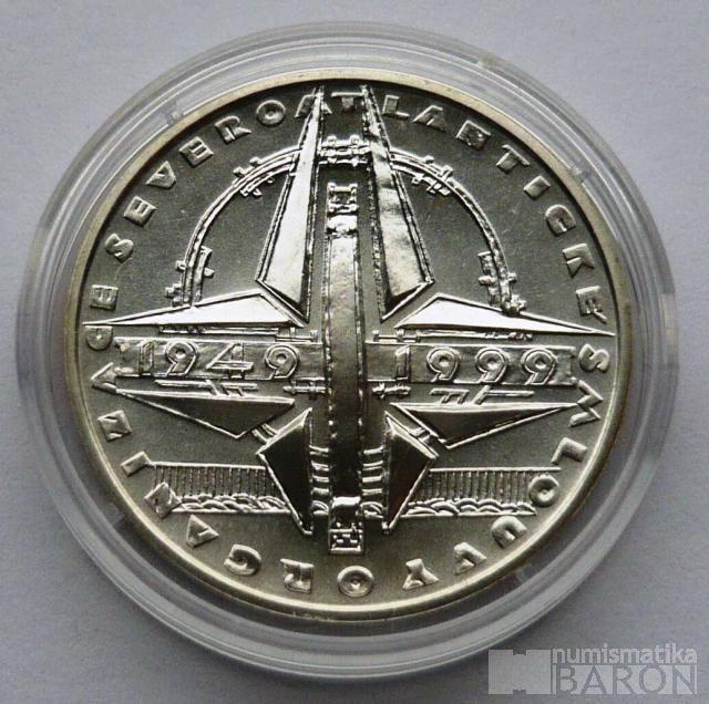 200 Kč(1999-NATO), stav 0/0, kapsle a certifikát