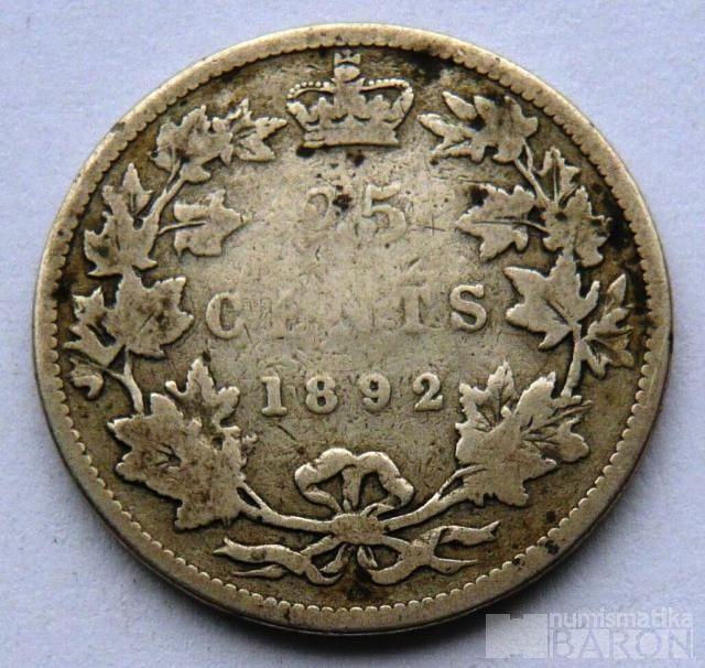 Kanada 25 C 1892 Viktorie