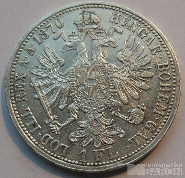 Rakousko 1 Fl 1870 A