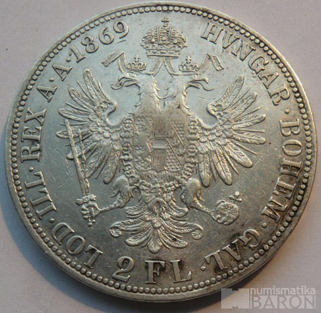 Rakousko 2 Fl 1869 A