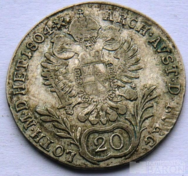Rakousko 20 Krejcar 1804 G František II.