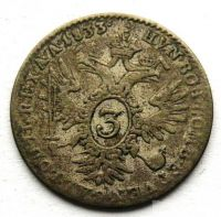 Rakousko 3 Krejcar 1833 A František II.