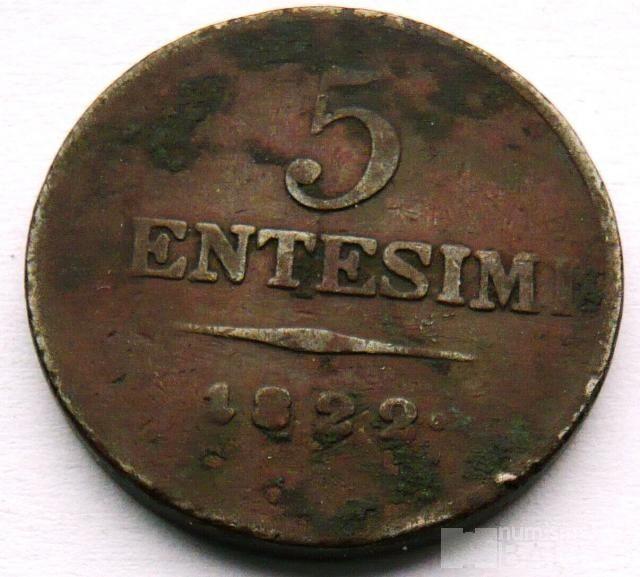 Rakousko 5 Centisimi 1822 František II.