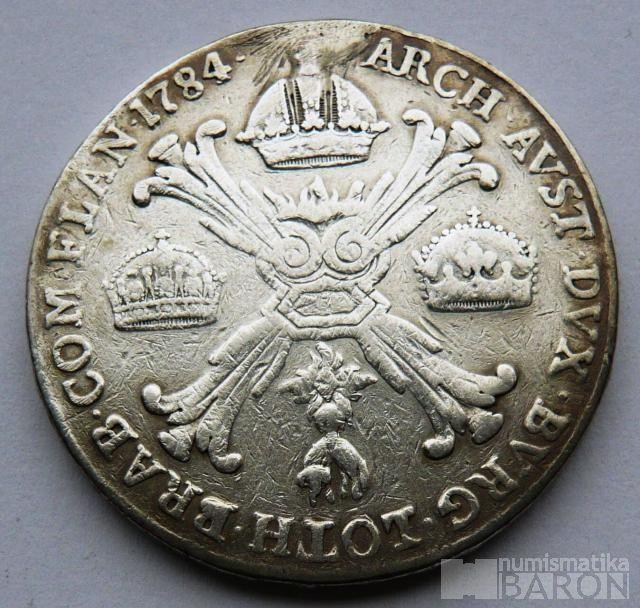 Rakousko Tolar Křížový 1784 B Josef II.
