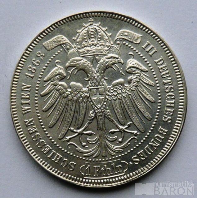 Rakousko Tolar střelecký 1868
