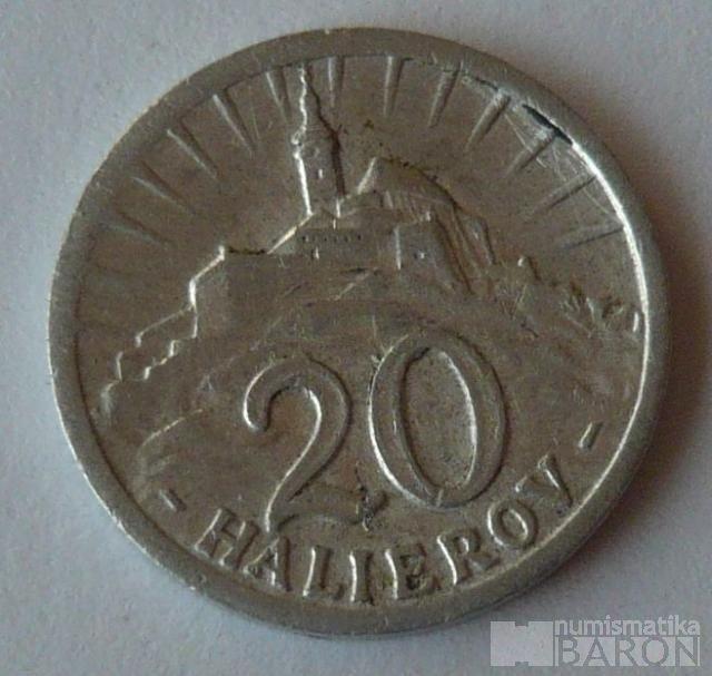 Slovensko 20 Haléř 1942 Al